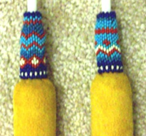 Native American Beaded Hand Drum Sticks The Drum People