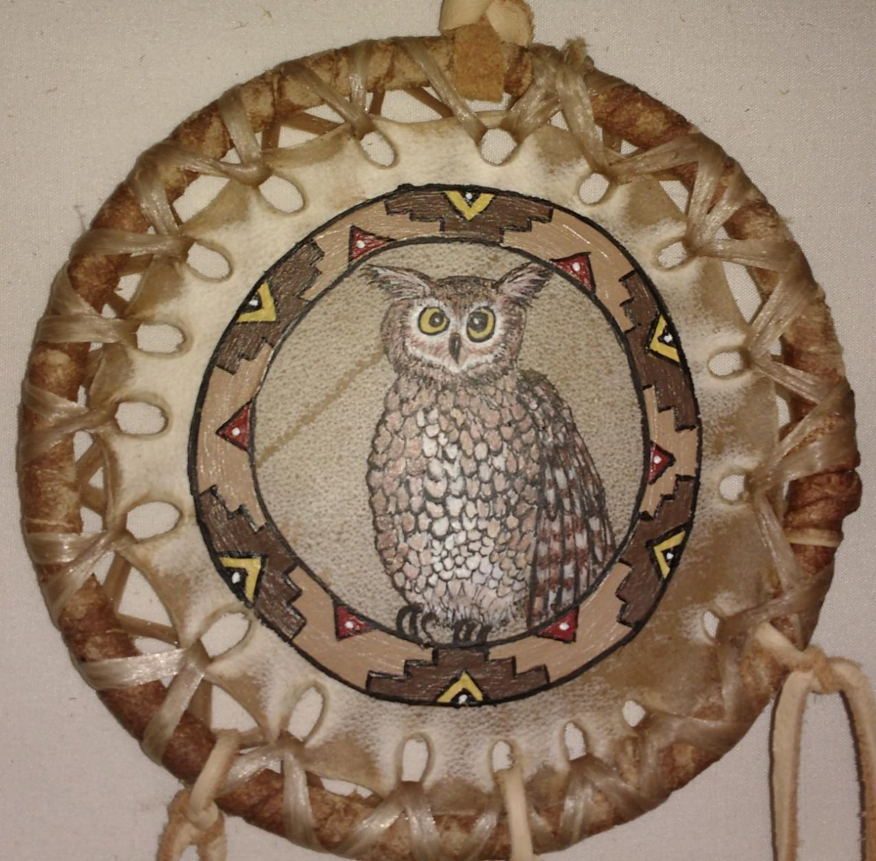 Hand Painted Mini Totem Animal Shields by The Drum People